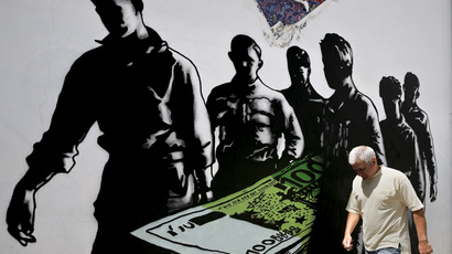 'Save Greece from EU prison!' Desperate debt graffiti daubed all over Athens