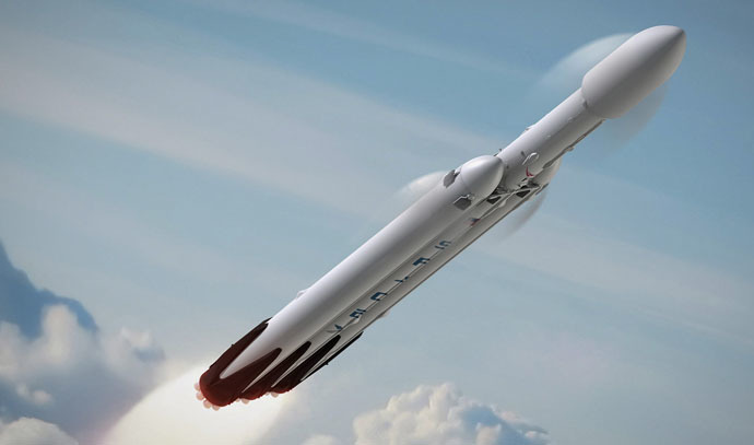 Falcon Heavy rocket (Image from spacex.com)