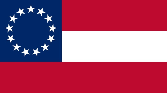 Flag of the Confederate States of America, used November 28, 1861 – May 1, 1863 (from wikimedia.org)