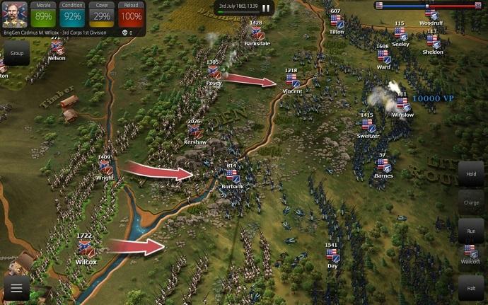 Screenshot of 'Ultimate General: Gettysburg' (from ultimategeneral.com/)