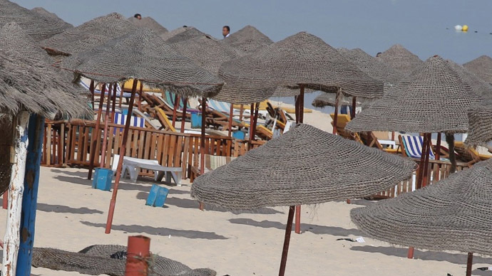 Deadly attack on beach near tourist hotels in Tunisia