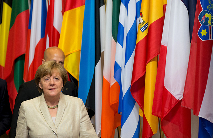 German Chancellor Angela Merkel leaves the EU Council headquarters after a European Union leaders summit in Brussels, Belgium, June 26, 2015 (Reuters / Philippe Wojazer)
