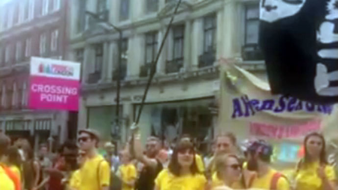 CNN spots 'ISIS flag' at London LGBT march – featuring dildos & anal plugs