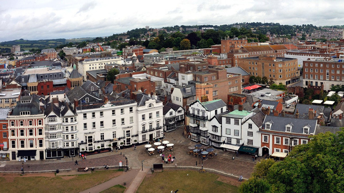 Exeter city center evacuated in double bomb scare