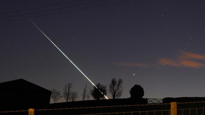 Meteor lights up Siberian skies near Chita
