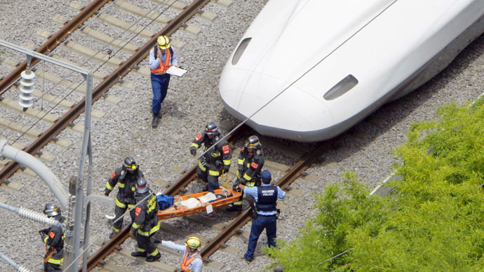 Man sets himself on fire on Japan bullet train, 2 dead, dozens injured