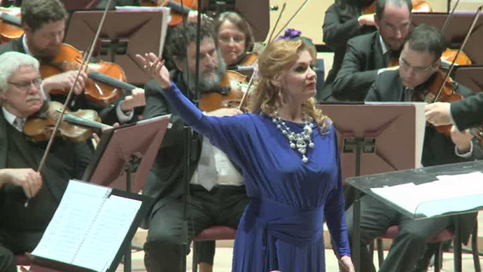 Russian opera singer Oksana Shilova (Still from RT video)