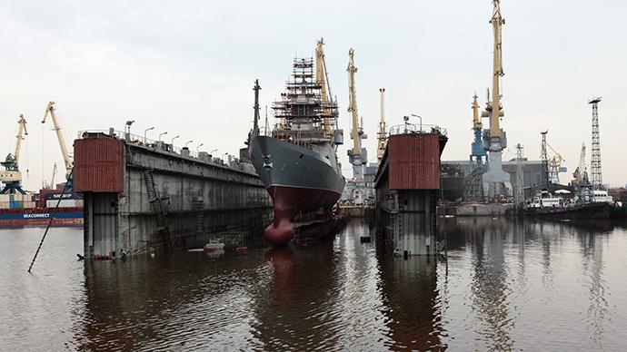 Severnaya Verf dockyard in St Petersburg (RIA Novosti / Alexey Danichev)