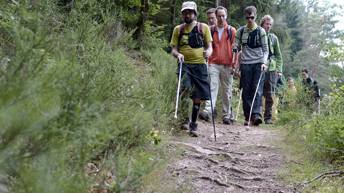 Trusting the app: Blind French hikers use new technology to cross mountains