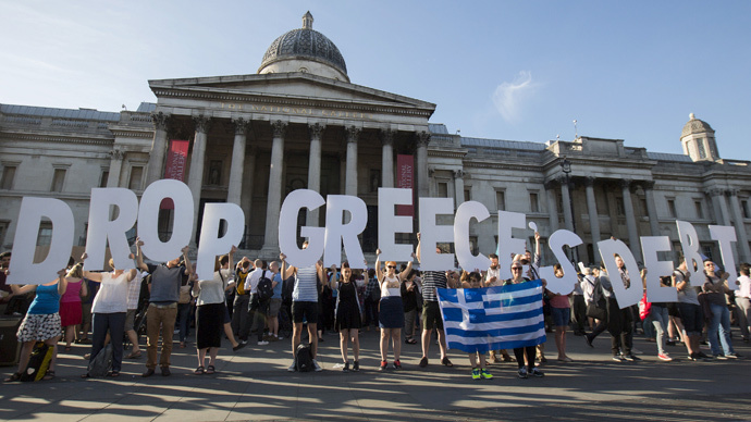 Greek solidarity protests across Europe ahead of referendum