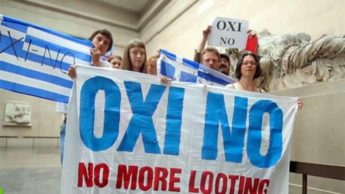 'No more looting': Thousands rally across EU to express solidarity with Greece
