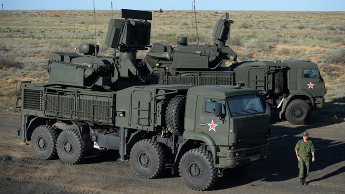 Pantsir-S1 missiles fired at Russia's air defense competition (VIDEO)