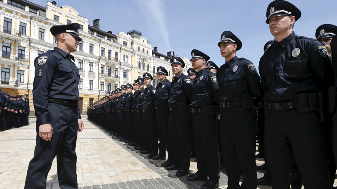 'Police Academy' moves to Ukraine? New patrol in Kiev takes oath in stylish uniforms (PHOTOS, VIDEO)