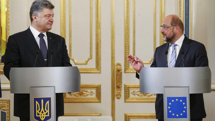 Poroshenko's pledge for Ukraine to join EU 'rather ambitious' – Euro Parliament president