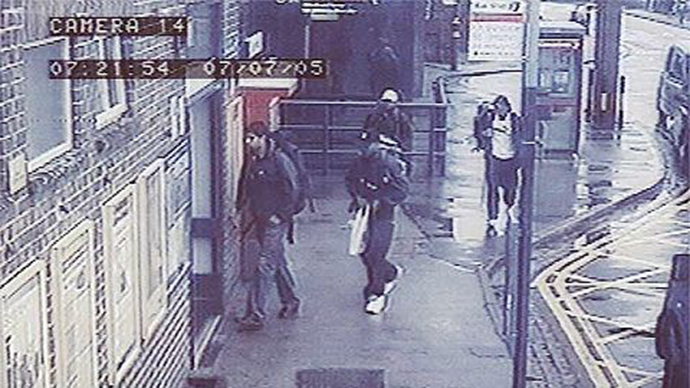 ARCHIVE PHOTO: Germaine Maurice Lindsay (second from left) alongside Mohammad Sidique Khan and Shehzad Tanweer captured on CCTV at Luton railway station at 7:21 a.m., 7 July (Image from wikipedia.org)