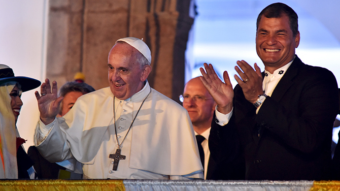 'Domestic church & best social capital': Pope Francis turns to family values in Ecuador