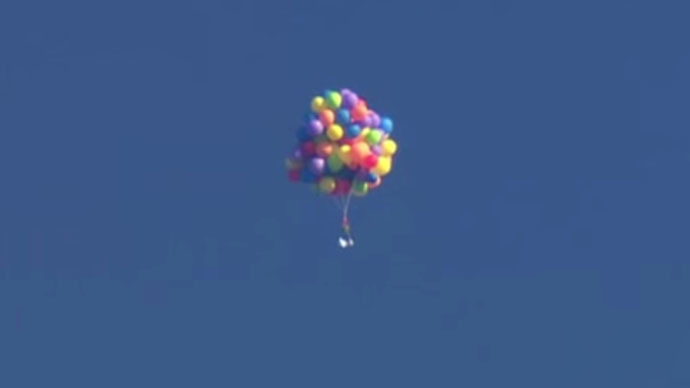 'Up 2': Canadian lifted into sky in lawn chair by 100+ balloons, arrested upon landing