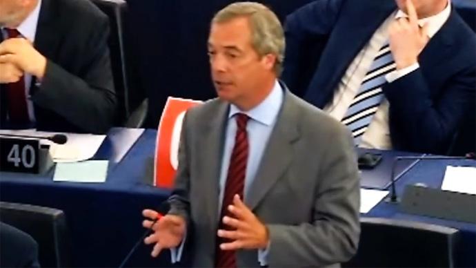 'Leave Euro, retake democracy!' Nigel Farage in passionate Tsipras address (VIDEO)