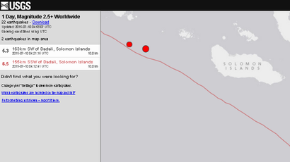 6.5 earthquake, aftershock strikes off Solomon Islands