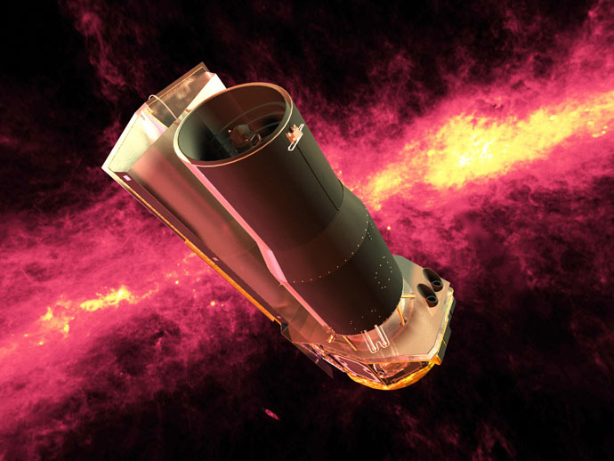 Artist's conception of the Spitzer Space Telescope (NASA/JPL-Caltech)