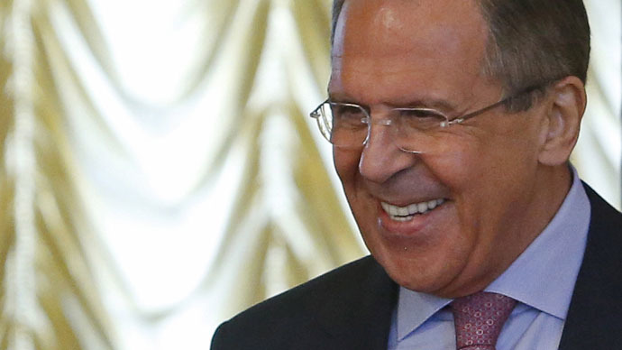 Lavrov 'have-a-nice-weekend' air kiss video is Russian internet hit
