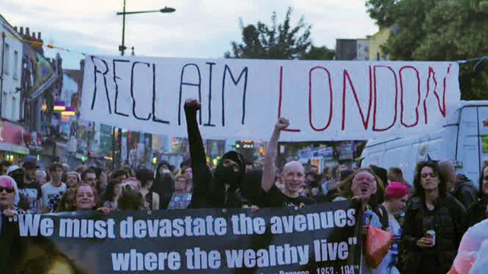 Raging class war: Anti-gentrification protest in Camden, London, ends in violence
