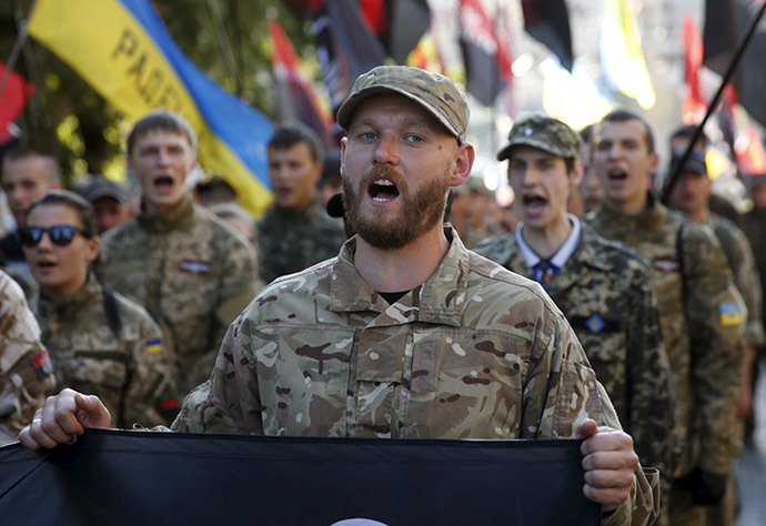 Members of the far-right radical group Right Sectorю (Reuters / Valentyn Ogirenko)