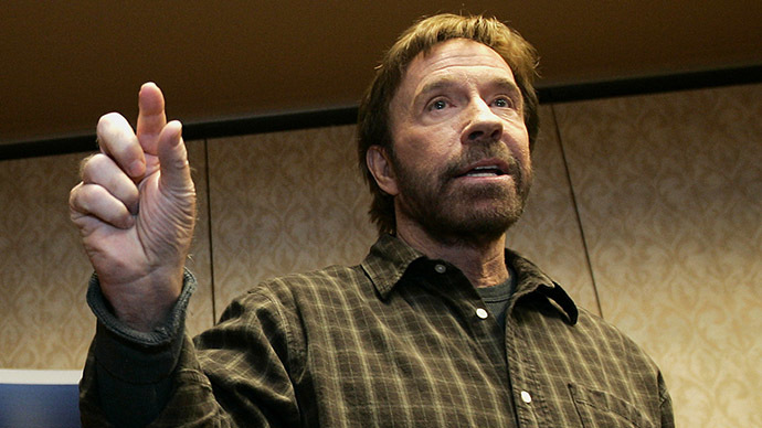 US actor and Republican supporter Chuck Norris. (Reuters / Jeff Haynes)