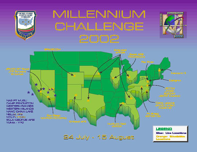 Millennium Challenge 2002 - an even bigger drill involving texas (Photo: DoD)