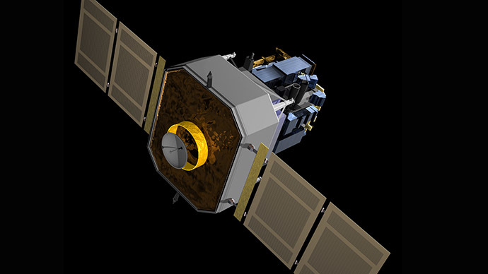 NASA Solar and Heliospheric Observatory (SOHO) spacecraft. (Image from Wikipedia)