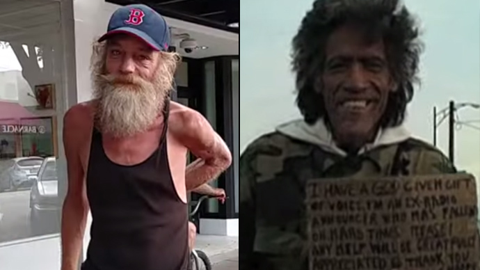 What can homeless 'Piano Man' Donald Gould learn from 'Golden Voice' Ted Williams?