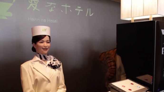 The future is now: 'Weird hotel' in Japan employs robot staff to save costs (VIDEO)