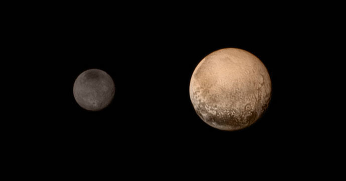 A Portrait from the Final Approach to Pluto and Charon (Photo credit: NASA/JHU APL/SwRI)