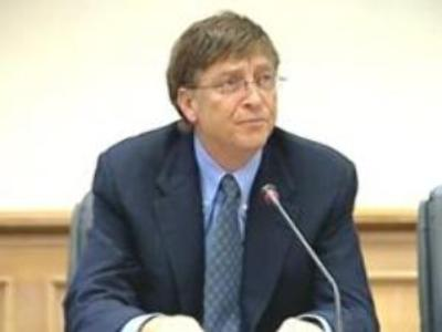 Bill Gates unveils Microsoft Vista OS in Moscow