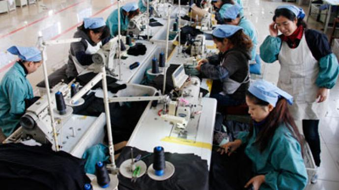 China's manufacturing hit by slowing demand