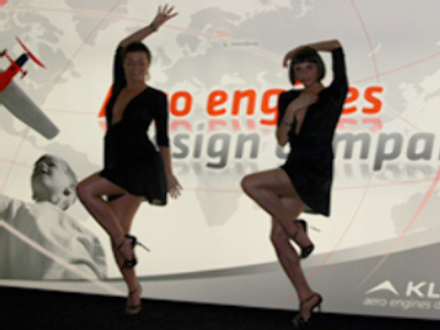 Dancing gals 'too distracting' for air show