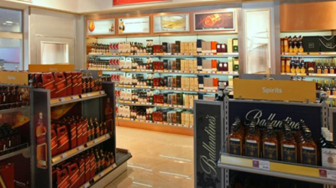 Russian Duty Free Shops could run dry