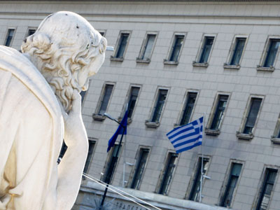 First deflation in over 40 years hits Greece, reminder of recession reality