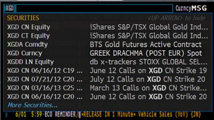 Are we there yet? 'Greek Drachma' on Bloomberg ticker (PHOTO)