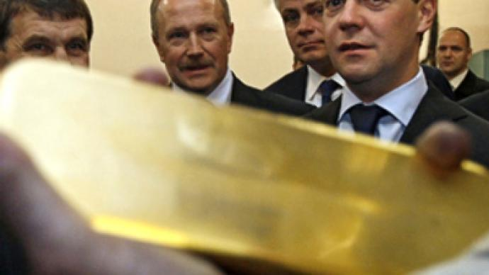 Medvedev lashes out at gold producers