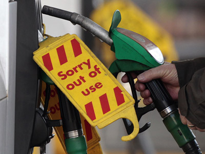 Pump panic threatens UK double-dip recession