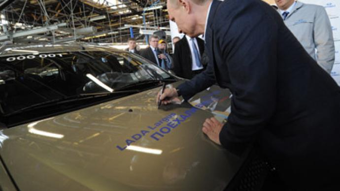 Putin to foster love for Russian car makes