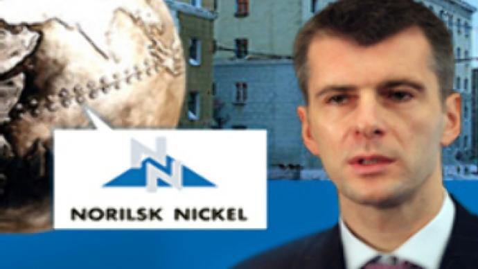 Rusal Nominates Prokhorov for Norilsk Nickel board