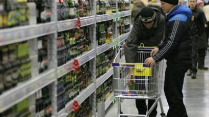 Alcohol production in Russia drops 30% in a year