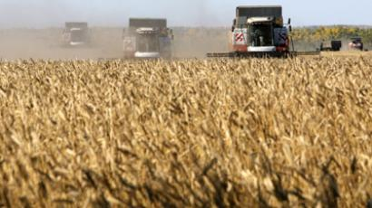 Russia sets record on grain exports