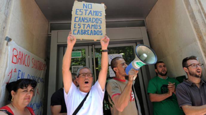 Spanish banks borrow record sum from the ECB