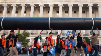 US sees 'biggest-ever' climate protest over Keystone XL pipeline