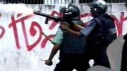 A city divided:  Bangladeshi police violently disperse strike (VIDEO)