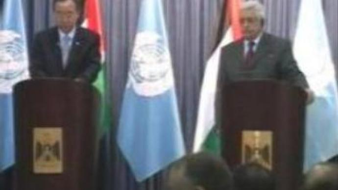Abbas meets with Ban and Rice on eve of Arab League Summit