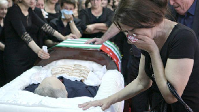 Abkhazian president laid to rest